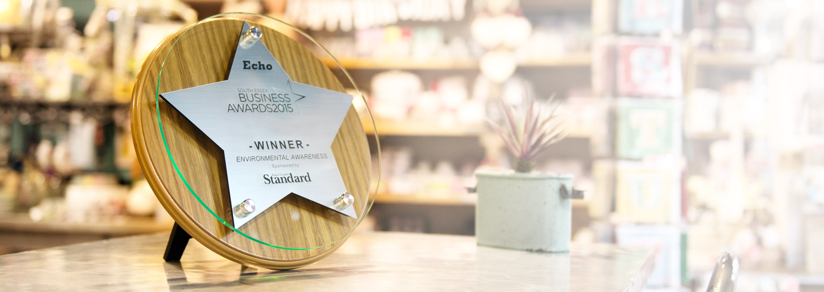 Free Standing Wooden Based Plaques wade from Oak - Business Star Awards