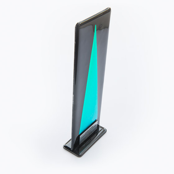 Fused Glass Spectrum Award - Black and Blue/Green